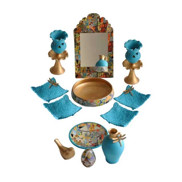 مجموعه ظروف هفت سین 12 پارچه مدل شاهنامه