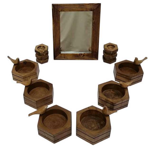ظروف چوبی هفت سین 9 پارچه