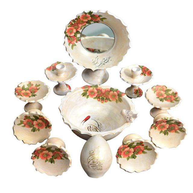 مجموعه ظروف هفت سین 12 پارچه مدل فانوس