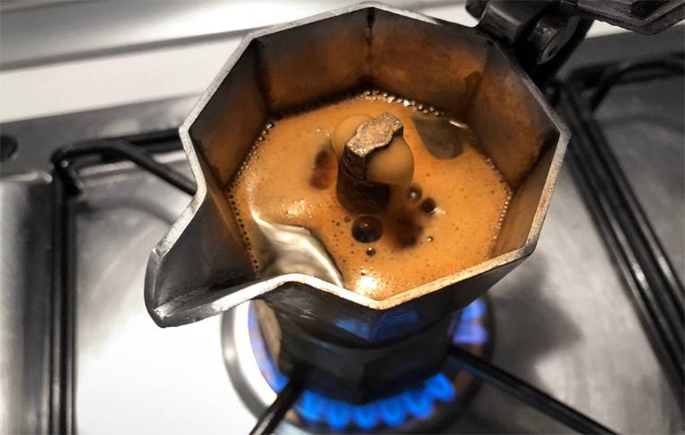 قهوهی آماده شده در موکاپات